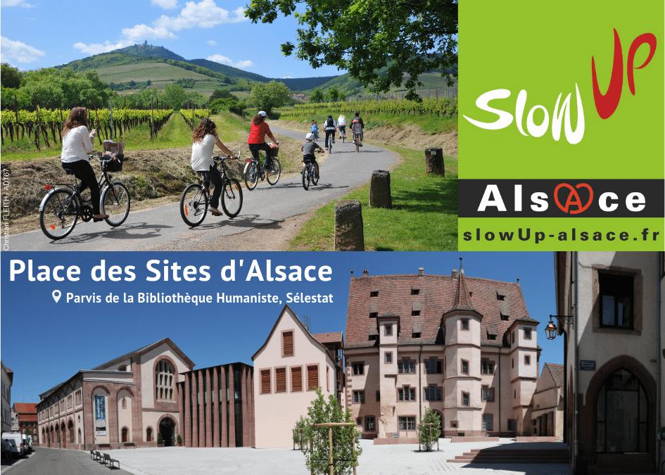Dimanche 2 Juin, retrouvez-nous au slowUp sur la Place des Sites d'Alsace !
